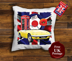 Lotus Elan Cushion Cover, Lotus Elan, Union Jack, Mod, Target, Poppy, Cushion - $9.01+