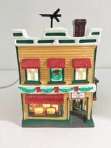 Dept 56 Original Snow Village Al's TV Shop Building w Light Cord 5423-2 - $37.73