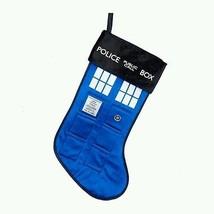 """Doctor Who TARDIS Stocking Police Box 19"""" Christmas Holiday Kurt S Adler DW7151 - $19.98"""