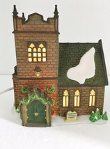 Dept 56 Heritage Dickens Village Sudbury Church Building w Light Cord 58322 - $47.87