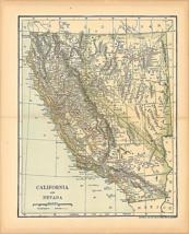 Original 1903 Antique Map Nevada & California Dodd Mead & Co.Collectible... - $37.37