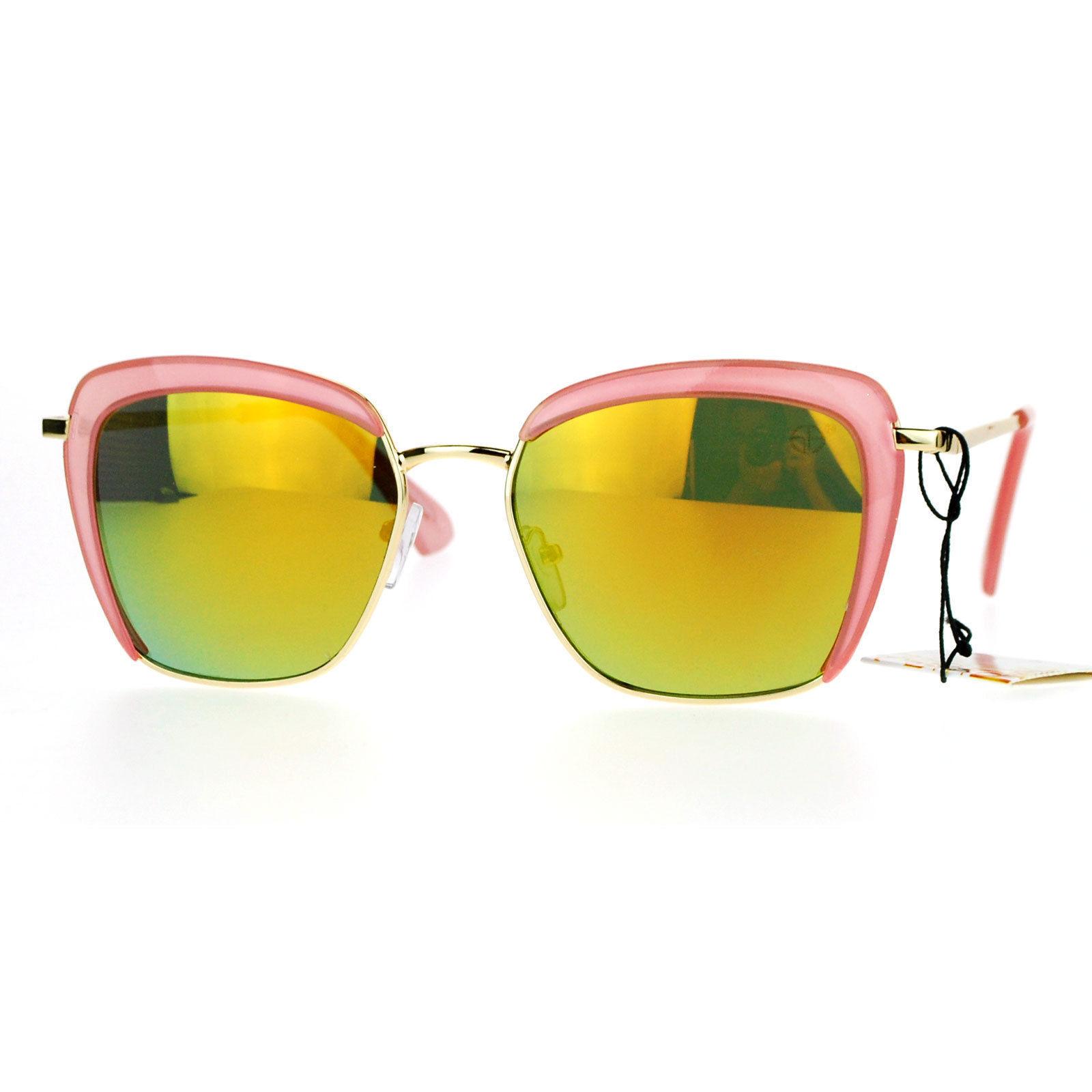 Womens Sunglasses Vintage Retro Fashion Shades Square Frame