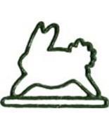 "Green Bunny spring metal bellpull 4.5"" opening ... - $11.70"