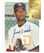 1997 bowman autograph baseball card juan melo san diego padres - $4.99