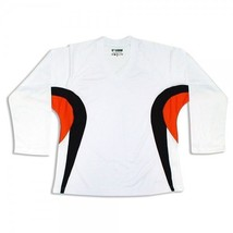 Customized Hockey Jersey with Name and Number!   White/Black/Orange - $23.78+