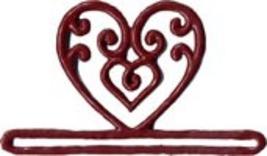 "Red Filigree Heart metal bellpull 3.25"" opening cross stitch Mill Hill - $9.90"
