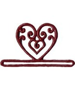 "Red Filigree Heart metal bellpull 3.25"" opening... - $9.90"