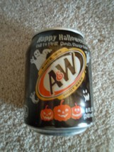Halloween A&W Root Beer 8 oz mini soda can Chill 2 Thrill ghosts change ... - $7.99