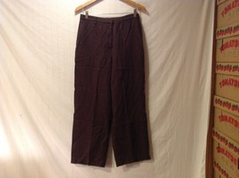 JM Collection Womens Brown Linen Pants, Size 10