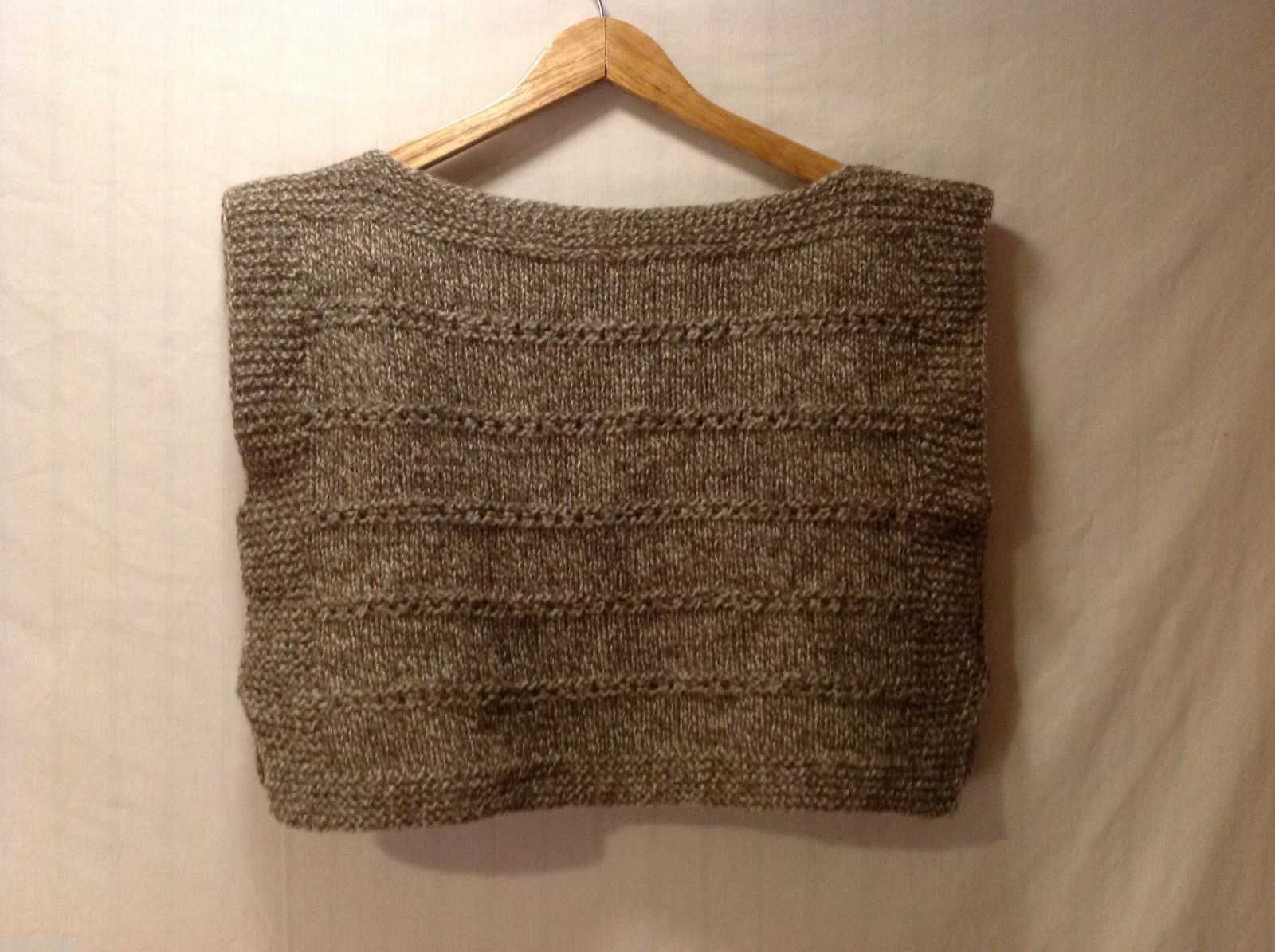 Hand Knitted Pullover Womens Vest, No Size