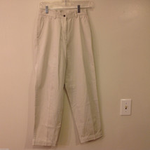 L. L. Bean Womens' Size 4 Off White Natural Color 100% Cotton Chino Khaki Pants