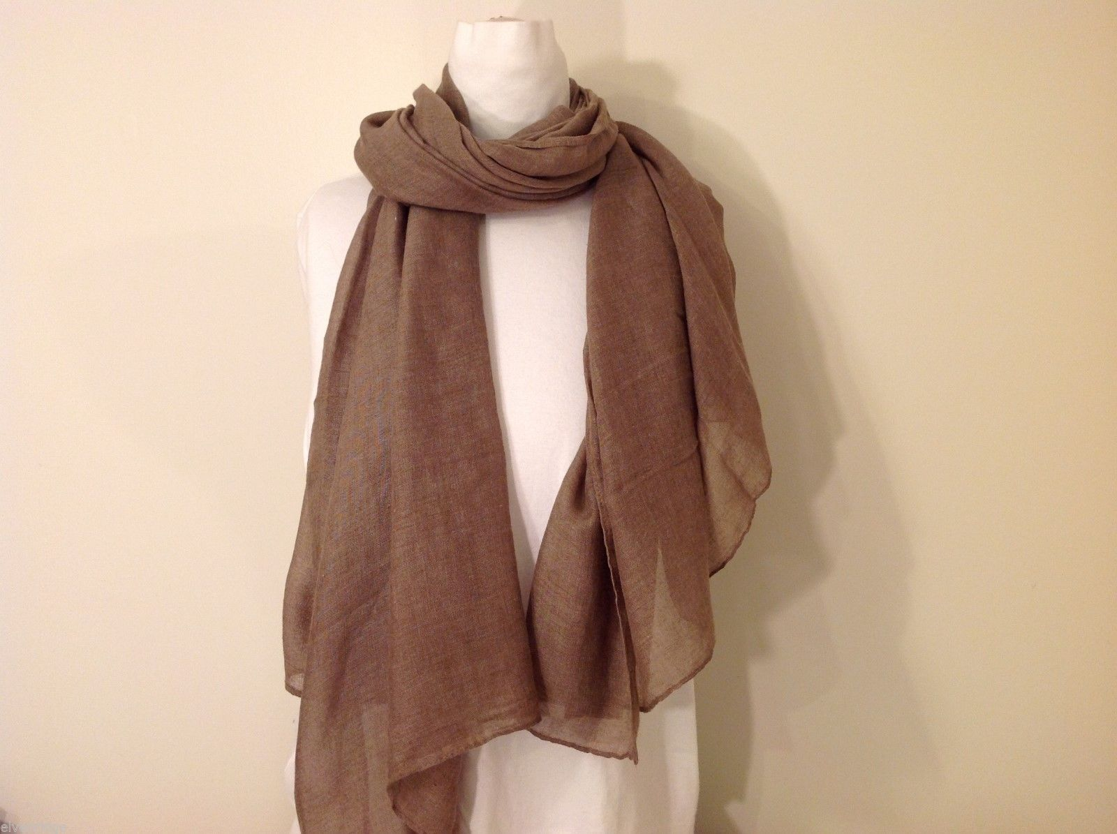 Light Brown Rectangle Scarf, new!
