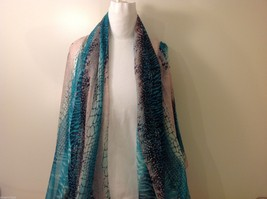 Multi-colored Patterned Rectangle Scarf, New!