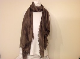 Charcoal Gray Scarf with Tie Die Design, New w/ Tags image 2