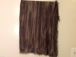 Charcoal Gray Scarf with Tie Die Design, New w/ Tags image 4