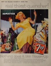 1959 Seven-up Ad Sexy Hot Blonde Model vintage 7up Soda Pop Advertisement! - $4.99