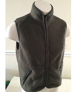 J. Crew Green Fleece Vest Full-Zippered Men's XS - $29.99