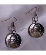 1999 JEFFERSON NICKEL EARRINGS DOMED COIN JEWELRY 16TH BIRTHDAY ANNIVERS... - $12.86