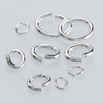 Sterling Silver Oval Jump Ring 22 ga. 3.6 x 2.7... - $16.12
