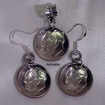 30th Birthday Or Anniversary Gift! 1985 Dime Coin Earring & Pendant/ Charm Set! - $14.84+