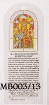 Bookmark - Our Lady of Perpetual Help - package of 100 - MB003-13 - $79.95