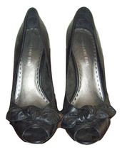 Women's Gianna Bini black open toed heels with ... - $145.85