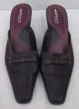 Women's Aerosoles Black Leather Kitten Heels Mu... - $12.19