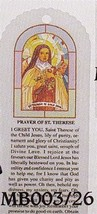Bookmark - St. Therese -sold in packages of 100 - MB003-26