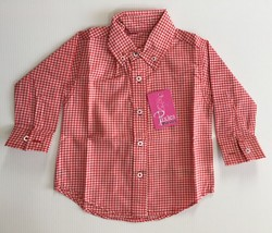 Baby Clothing Boys Checkered Button Up Long Sleeve Shirt - $24.95