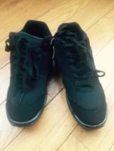 Adult Black  Mesh & Material Jazz Hip Hop Dance Shoes Laceup Sneakers SZ 6 - $34.64