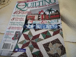McCall's Quilting November/December 2015 - $5.00