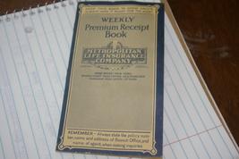 Weekly Premium Receipt Book Metropolitan Life Insurance Company 1933 To ... - $6.00