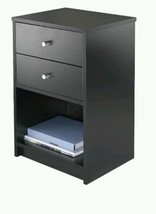 Accent 2-Drawer Table Black Chest of Drawers Ni... - $177.56