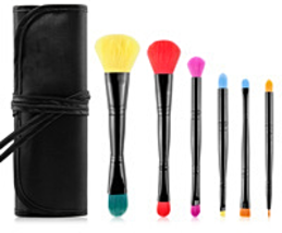 MsQ Double Sided Makeup Brushes Colorful 6-Pc Makeup Artist Cosmetics Br... - ₨4,416.42 INR