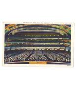 NYC Radio City Music Hall Interior New York City NY Linen 1952 Acacia C... - $4.99