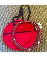 red bag kids rodeo youth roping multi  rope western lasso lariat junior set - $24.74