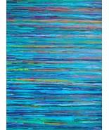 Water Gallery Wrap 24 x 36 Blue Ocean Lake Abst... - $695.00