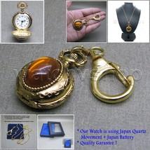 Gold Ladies Vintage Antique Pocket Pendant Watch Key Chain Necklace Gift... - $15.49