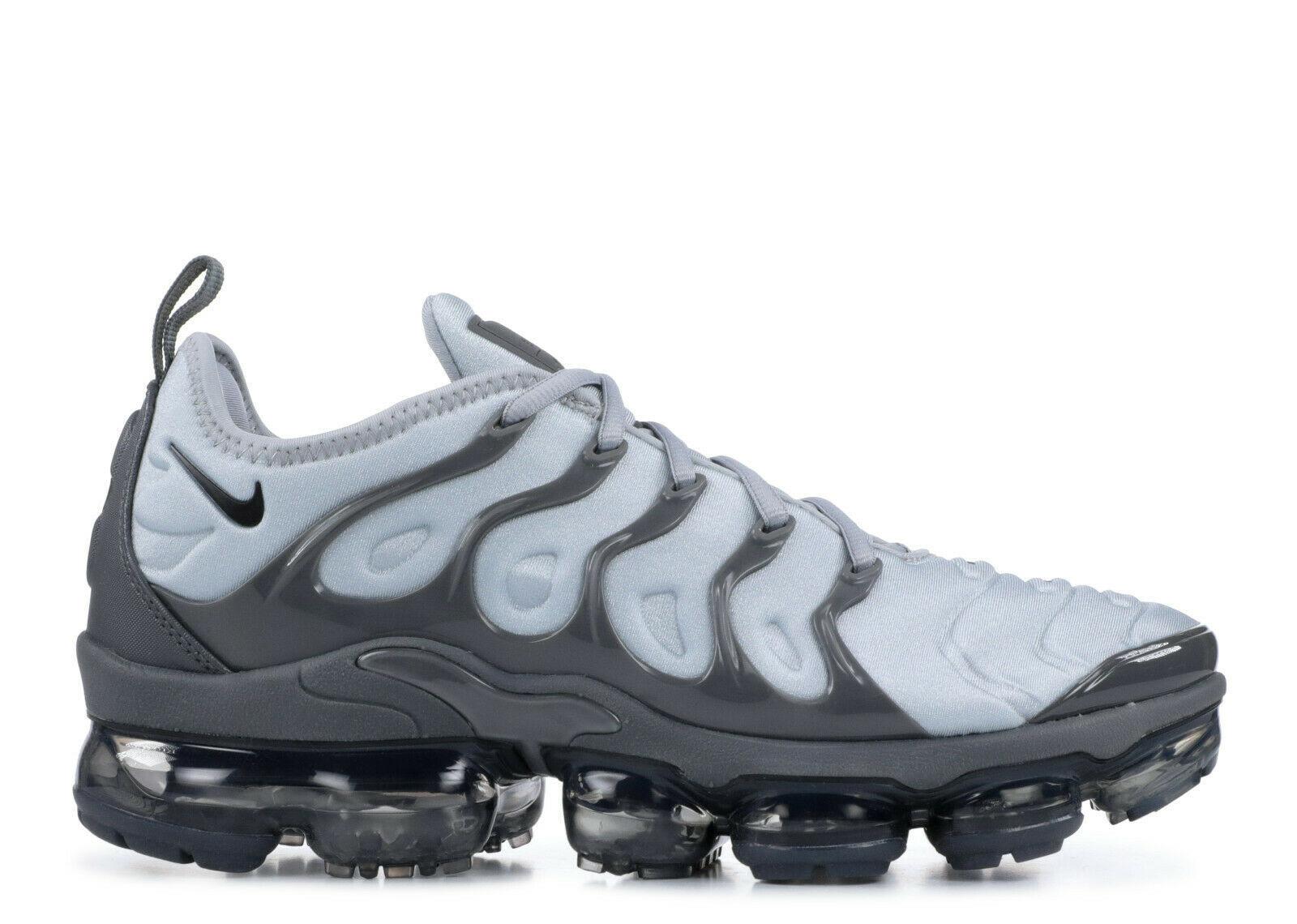 ab89a98a86 Air Vapormax Plus Men Shoes 924453-016 Wolf Grey/Black-Dark Grey Sneakers  Size 7 - $247.49