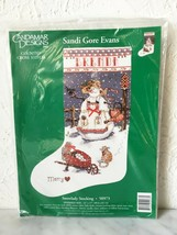 Candamar Snowlady Personalized Christmas Stocking Counted Cross Stitch K... - $42.70