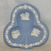 Wedgwood England Blue Jasperware Shamrock Ashtray Dish - $10.40