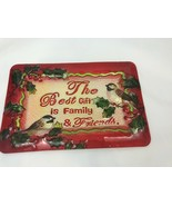 Vintage Glass Christmas Serving Tray Platter Cookie Dessert Hostess Gift... - $118.79