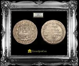 German States Magdenburg 2/3 Taler 1675 Ngc 30 City Wall~Castle Towers  Rare - $850.00