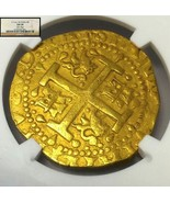 PERU 8 ESCUDOS GOLD DOUBLOON COB 1716 NGC 58 DOUBLE DATE  FINEST OF 4 SH... - $39,500.00