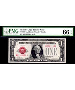 FR 1500 $1 1928 US LEGAL TENDER PMG 66EPQ SUPERB GEM GORGEOUS COLORS  WA... - $1,250.00