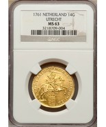 "NETHERLANDS 1761 ""KNIGHT RIDER"" 14 GULDEN NGC 63 GOLD COIN ""FROSTY DEVICES"" - $6,301.84 CAD"