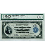 "US FR 757 FEDERAL RESERVE ""JEFFERSON- BATTLESHIP"" 1918 CLEVELAND $2 PMG ... - $4,750.00"