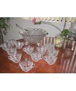 RARE EAPG Darling Vintage Grape & Vine vintage Punch Bowl Set. - $155.00