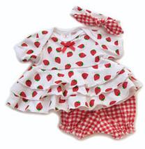 Preemie 4-7 Pounds Preemie Yums Girls Strawberry 3 Piece Set - $24.00