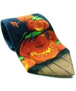 Happy Halloween Pumpkin Jack O Lantern Frankenstein Bats Moon Novelty Tie - $16.00